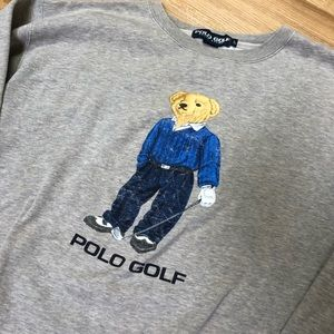 Polo by Ralph Lauren Sweaters - Vintage Ralph Lauren Polo Bear Crewneck Sweater
